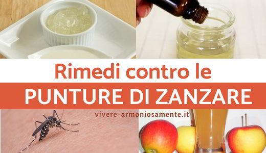 punture di zanzare rimedi naturali
