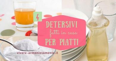Detersivo Piatti Fatto in Casa Naturale ed Ecologico: 4 Ricette Semplici