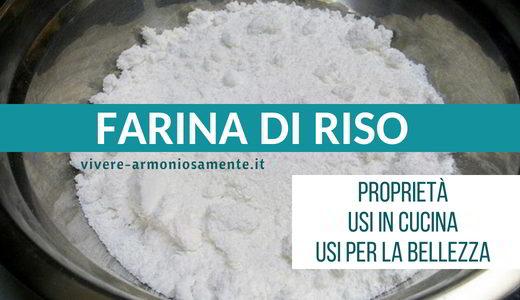 farina di riso proprietà
