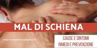 mal di schiena cause sintomi rimedi