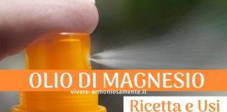 olio di magnesio ricetta usi