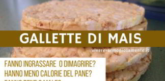 gallette di mais calorie