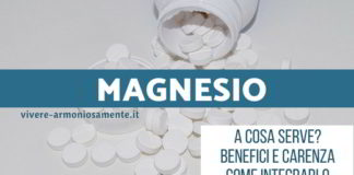 magnesio benefici a cosa serve