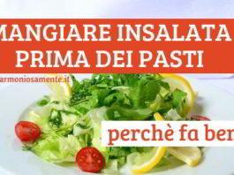 insalata prima dei pasti