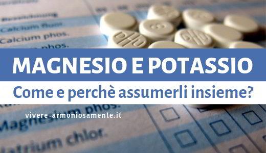 magnesio e potassio
